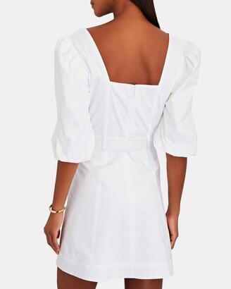 JONATHAN SIMKHAI STANDARD Juno Cotton Oxford Puff Sleeve Dress