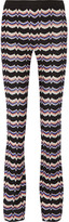 Missoni Crochet-knit Straight-leg Pants - Blue