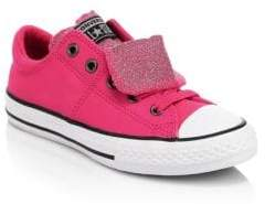 Converse Kid's Chuck Taylor All Star Glitter Leather Sneakers - Pink Pop - Size 11 (Child)