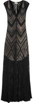L'Agence Tatiana Burnout Ribbed Jersey Maxi Dress