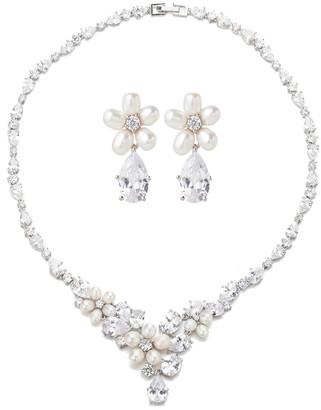 Eye Candy Los Angeles Eye Candy La Wedding Time Cz Crystal Necklace Set