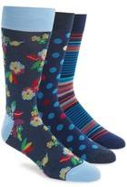 Bugatchi Men's 3-Pack Mixed Pattern Socks