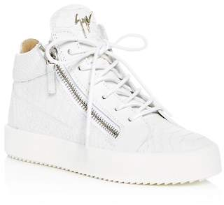 Giuseppe Zanotti Women's May London Snake & Croc Embossed Leather High Top Sneakers