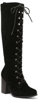XOXO Black Marik Lace-Up Boot