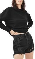 Topshop Petite Women's Ripped Mom Shorts