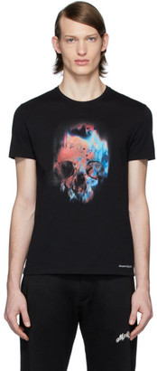 Alexander McQueen Black Sprayed Skull T-Shirt