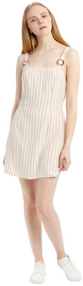 Milk and Honey Apron Front Buckle Detail Dress