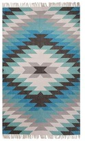Jaipur Indoor/Outdoor Tribal Accent Rug - Blue/Gray (2'x3')