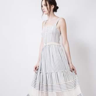 Quin QUIN - Sophie Dress - UK 12 - White/Grey
