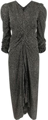 Isabel Marant Albi polka-dot silk midi dress