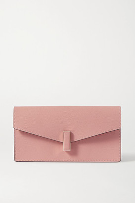 Valextra Iside Textured-leather Clutch - Pink