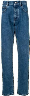 Versace Rear Print Straight-Leg Jeans