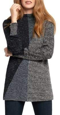 Nic+Zoe Chilled Angle Colorblock Cotton-Blend Sweater