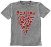 Urban Smalls Heather Gray 'You Had Me At Pizza' Tee - Toddler & Boys