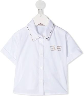 Ermanno Scervino Embellished Logo Shirt