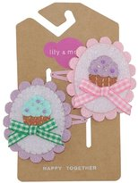 Lily and Momo Hair Clip, Sweet Cakes