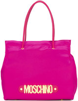 Moschino logo letters tote - women - Cotton/Leather - One Size