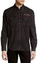 Affliction No Rival Cotton Casual Button Down Shirt