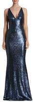 Dress the Population Women's 'Harper' Sequin Mermaid Gown