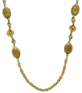 Chanel Gold Crown Coin Necklace