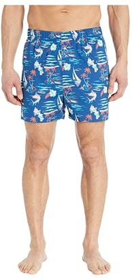Tommy Bahama Printed Woven Boxers (Marlin Sea) Men's Underwear