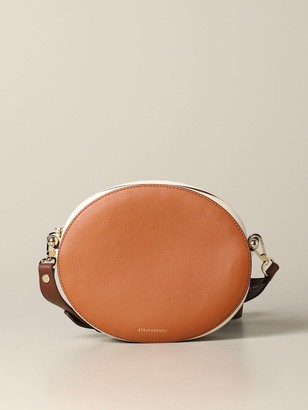 Strathberry Mini Bag Breve Handbag In Tricolor Leather