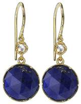 Irene Neuwirth Round Rose Cut Lapis And Diamond Earrings