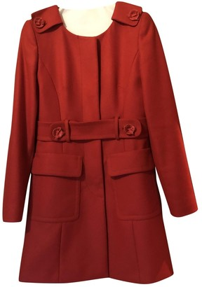 Valentino Red Red Wool Coat for Women