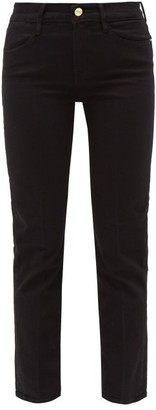 Frame Le High Straight Leg Cropped Jeans - Womens - Black
