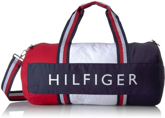 Tommy Hilfiger Duffle Bag Patriot Colorblock Core Navy/Chili Pepper/Multi