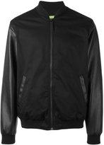 Versace contrast sleeve bomber jacket - men - Cotton/Polyester/Spandex/Elastane/Polyurethane Resin - 48