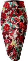 HyBrid & Company Womens Pencil Skirt for Office Wear KSK43584X 10578 ORANGE
