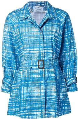 Prada Pre-Owned net print jacket