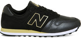 New Balance 373 suede and mesh trainers