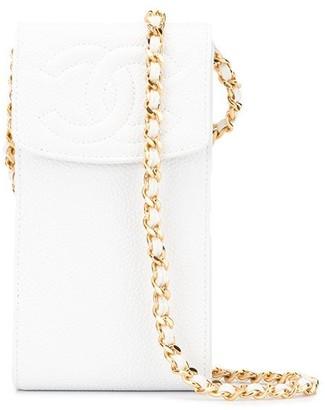 Chanel Pre Owned Shoulder Pochette Phone Case