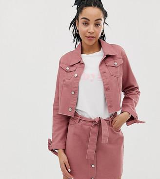 Urban Bliss a-line denim mini skirt with tie waist detail