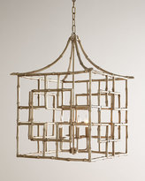Horchow Bamboo Fretwork 4-Light Chandelier