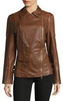 Karen Millen Longer Leather Jacket