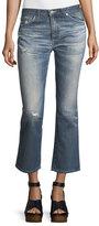 AG Jeans Jodi Slim Flared Faded Distressed Crop Jeans