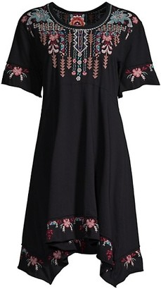 Johnny Was Tua Embroidered T-Shirt Dress