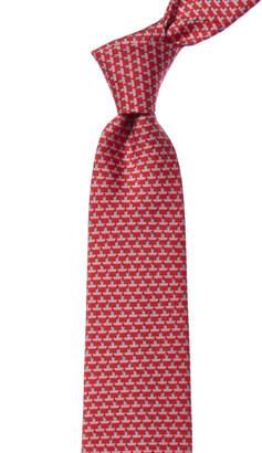 Salvatore Ferragamo Red Boats Silk Tie