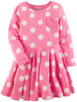 Carter's Long Sleeve Fit & Flare Dress - Preschool Girls