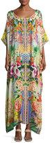 Camilla Embellished Kaftan Coverup Dress, Multicolor