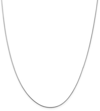 Curata Italian 14k White Gold 0.8mm Snake Chain Necklace