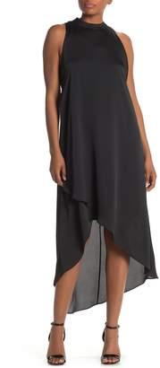 BCBGMAXAZRIA Mock-Neck Trapeze Dress
