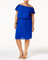 INC International Concepts Plus Size Off-The-Shoulder Fit & Flare Dress, Only at Macy's