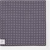 Reiss Reiss Diego - Houndstooth Pocket Square In Navy