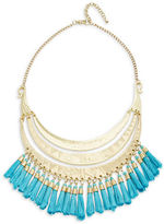 Robert Rose Tassel-Accented Tiered Statement Necklace