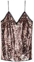 H&M Sequined Camisole Top - Bronze-colored - Ladies