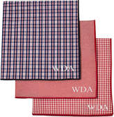 Asstd National Brand Personalized Gingham Handkerchief Set
